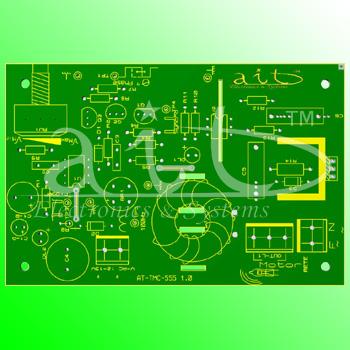 AT-TMC-555 / PCB Render 3D